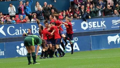 Imágenes del partido Osasuna Femenino-SD Eibar disputado en El Sadar