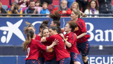 Las jugadoras de Osasuna, con la mente fría por un objetivo