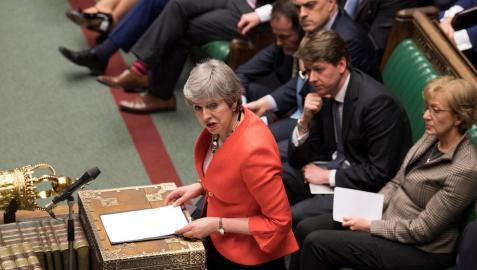 Theresa May, tras la votación.