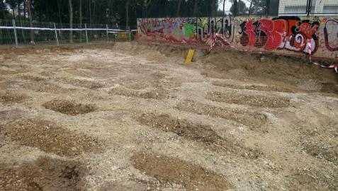 Hallan más de 90 fosas en la necrópolis islámica de Tudela