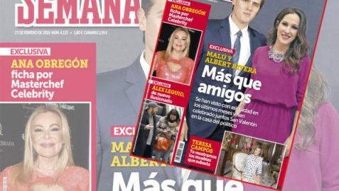 Malú, la nueva pareja sentimental de Albert Rivera, según la revista 'Semana'