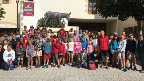 Niños ucranianos de Chernóbil disfrutan de una jornada en Sendaviva