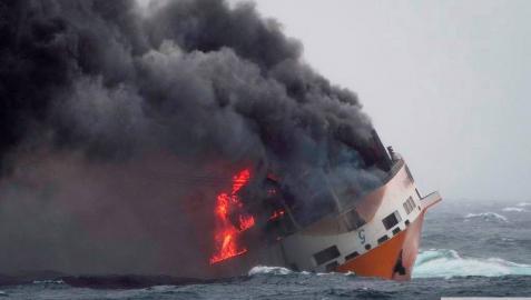 La 'marea negra' del mercante hundido podría llegar a Las Landas