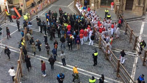 Los toros vuelven hoy a Pamplona con el rodaje de la película china 'Line Walker II'