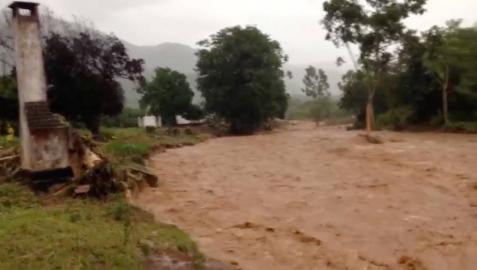 Imagen de las inundaciones tras el paso de Idai en Zimbabue.