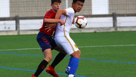 Osasuna acoge a la selección china sub-15 en El Sadar y Tajonar