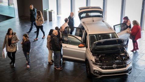 Presentación del nuevo modelo de Volkswagen, el T Cross, en Baluarte.