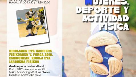 'Mujeres, deporte y actividad física', tema del IV Foro del Deporte de Barañáin