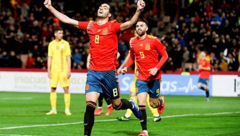 Un gol de Mikel Merino solventa el penúltimo ensayo de España sub-21