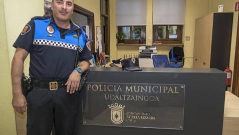 Pablo Salvatierra dimite como jefe de la Policía Municipal de Estella