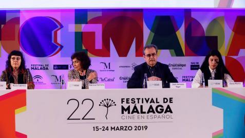 Lectura del fallo del palmarés del 22 Festival de Cine Málaga.