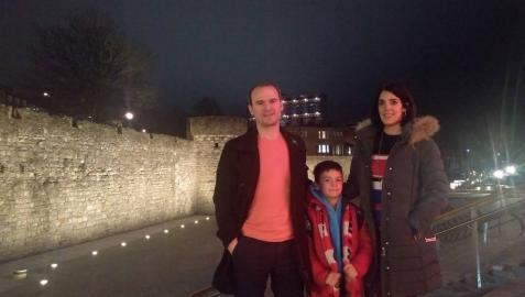 Una familia navarra en Southampton