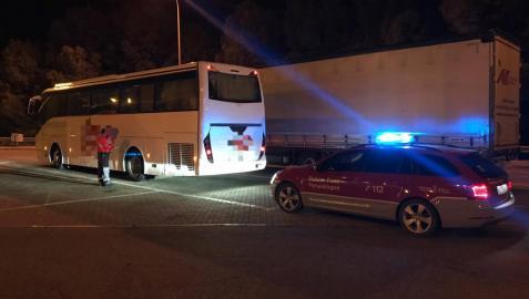 Da positivo en cocaína el conductor de un autobús en un control en Valtierra
