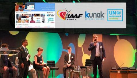El director de Desarrollo de Negocio de Kunak, Miguel Escribano, intervino en la mesa redonda sobre calidad del aire