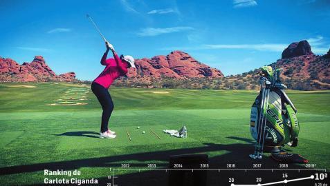 Carlota Ciganda sube al décimo puesto mundial, un hito para el golf español