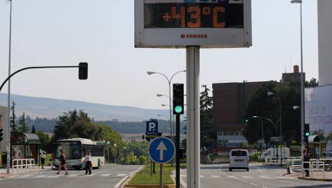La primera ola de calor del verano dejará en Navarra temperaturas de hasta 40 grados