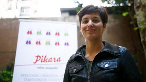 Charla en Pamplona con la coordinadora de la revista feminista Pikara