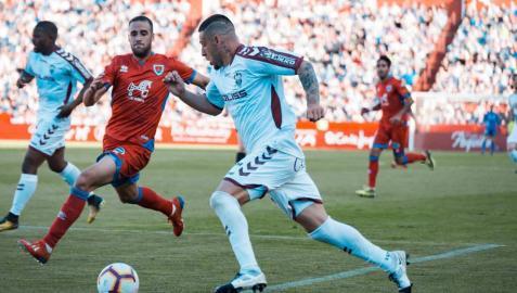 Un momento del partido que enfrentó a Albacete y Numancia