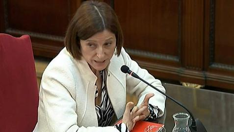 La expresidenta del Parlament Carme Forcadell durante su declaración en el juicio del