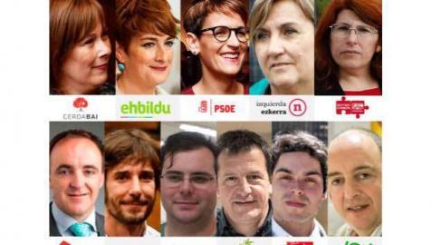 Combo de los  cabezas de lista al Parlamento de Navarra en las elecciones autonómicas de 2019.