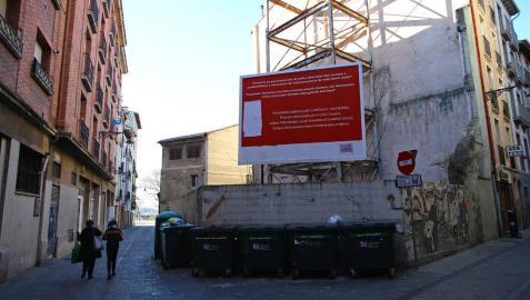 ¿Intervendrá el Ayuntamiento de Pamplona en el solar de Santo Andía en el Casco Viejo?