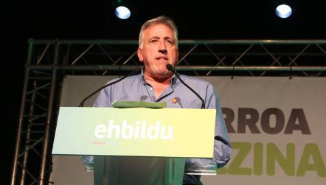 Asiron (EH Bildu) valora los resultados de EH Bildu, insuficientes para revalidar cargo