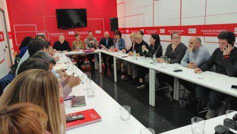 Reunión de la Ejecutiva del PSN para analizar los resultados electorales del domingo.