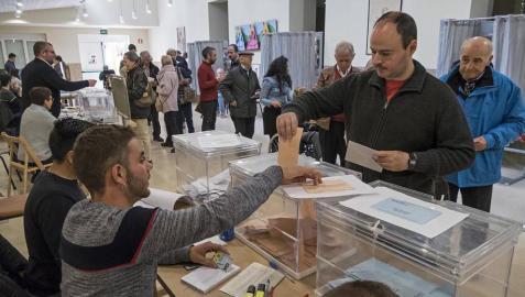 La participación en Navarra a las 18 horas es del 56,34%, 0,5 puntos más que en 2015