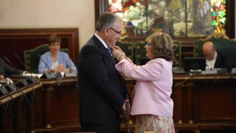 Enrique Maya, tras su nombramiento como alcalde.