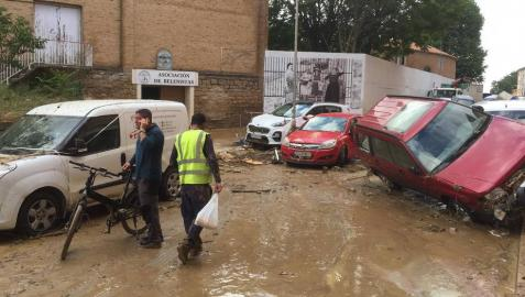 Fotos de las inundaciones en Olite y Tafalla