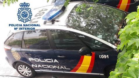 Un coche de la Policía Nacional, en una operación anterior.