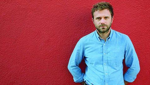 El italiano Paolo Giordano, en el club de lectura de Diario de Navarra