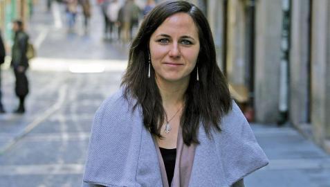 La candidata al Congreso de Unidas Podemos por Navarra, Ione Belarra