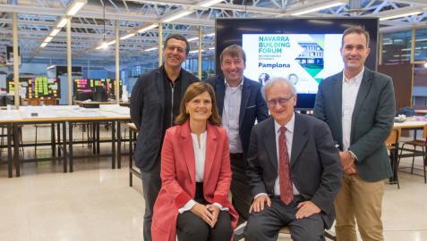 Wolfgang Feist inaugura Navarra Building Forum en la Universidad de Navarra