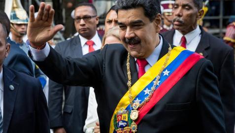 El presidente de Venezuela Nicolás Maduro, en un acto para conmemorar los 20 años de la Constitución de la República Bolivariana