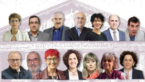 Nuevos consejeros del Gobierno de Navarra presidido por María Chivite