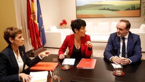 Reunión de Chivite y Saiz con Esparza sobre los presupuestos y las medidas fiscales