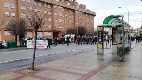 Imagen de la manifestación por la huelga abertzale en Pamplona