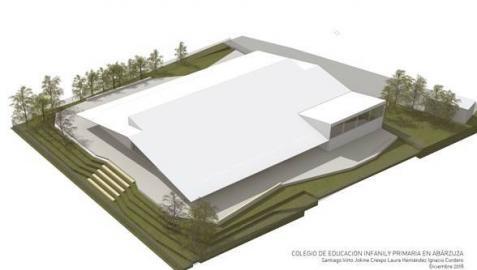 Recreación del nuevo centro educativo en Abárzuza