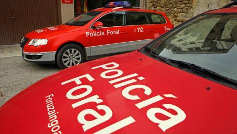 Policía Foral investiga los daños en vehículos en una nave de Gobierno de Navarra