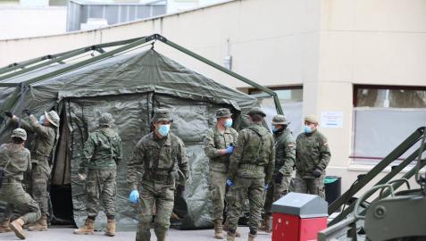 Efectivos del ejército en Salamanca para luchar contra el coronavirus