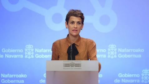 Chivite pide a Sánchez aclarar en la Comisión del Convenio las ayudas a Navarra