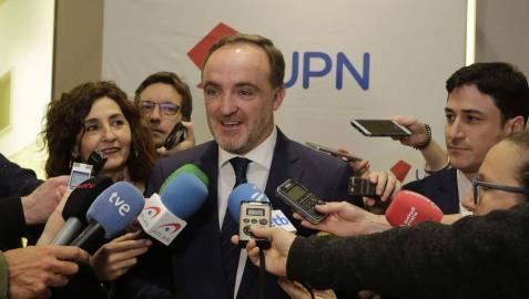 Esparza, tras acordar la alianza con Ciudadanos.