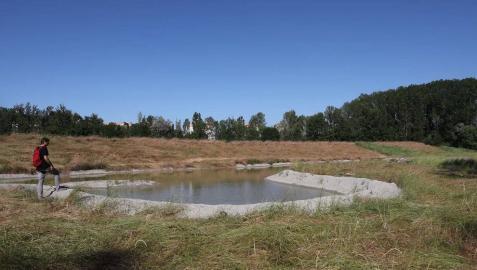 Huarte recupera como parque el meandro de Areacea