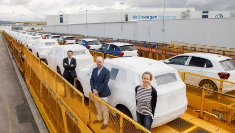 VW Navarra alcanza durante la pandemia su récord en el promedio de coches distribuidos por tren