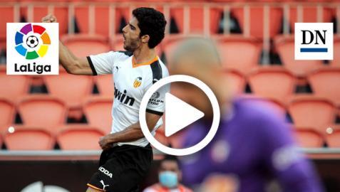 Gol de Guedes en el Valencia 2-0 Osasuna