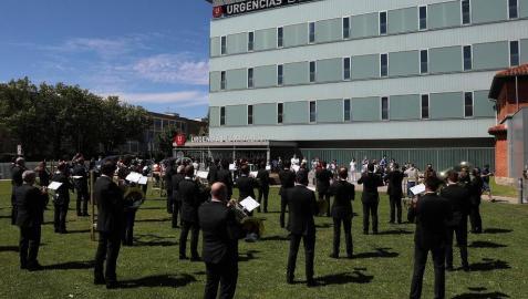 Música de La Pamplonesa este 7 de julio en el exterior del CHN