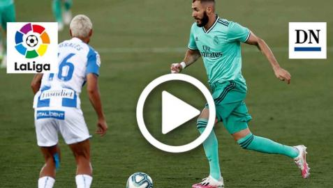 Resumen del Leganés 2-2 Real Madrid en vídeo