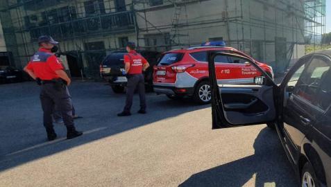 Intervención de agentes de la Policía Foral en Bera