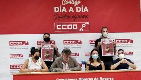 Rueda de prensa de la presentación de la campaña.